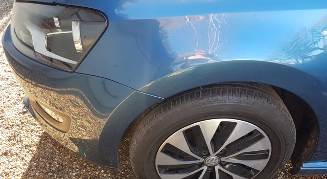 Repaired dent on VW Polo