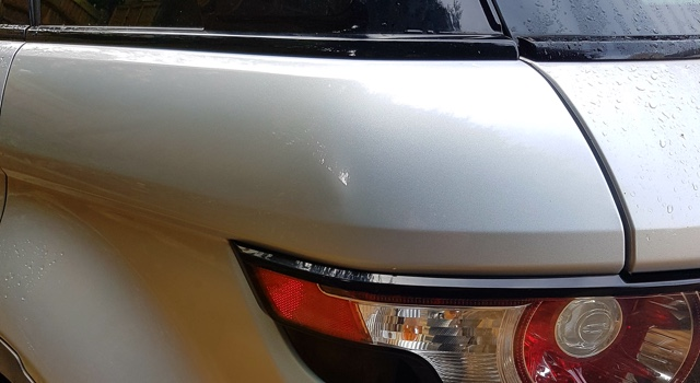 Repaired dent on Landrover Freelander