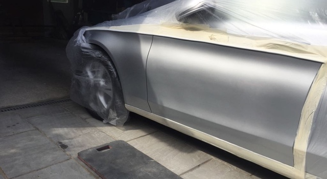 Large paint repair, Mercedes C Class, Horsham